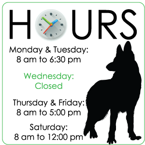 Hours - Grass Lake Animal Hospital - Grass Lake MI